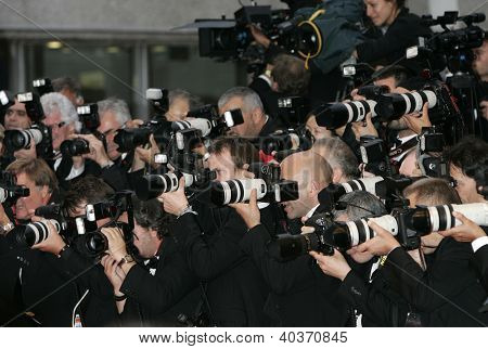 CANNES, France - May 15: Photographers during the Cannes Film Festival on May 15, 2009 in Cannes, France