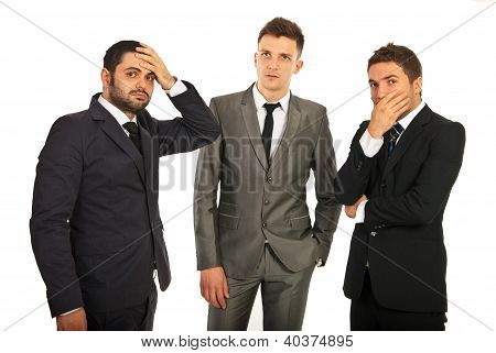 Worried Business Men