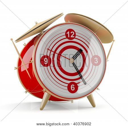 Alarm Clock Isolated On White Background. 3D Model