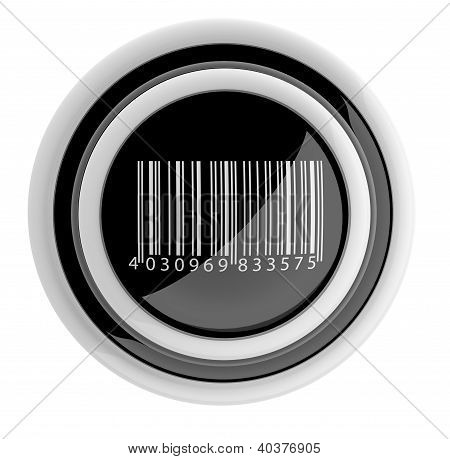 Barcode Button. 3D Icon