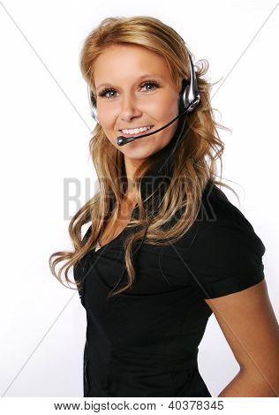Pretty call center girl