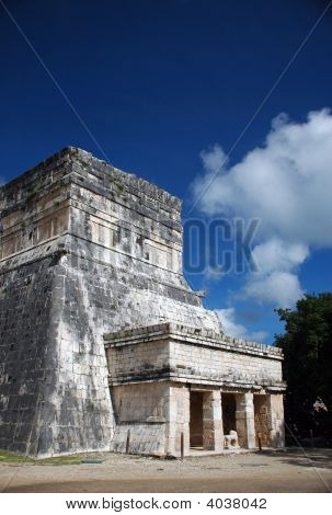 Entrance To Ancient Mayan Building In Yucatan