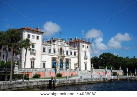 View Of Vizcaya Mansion In Miami
