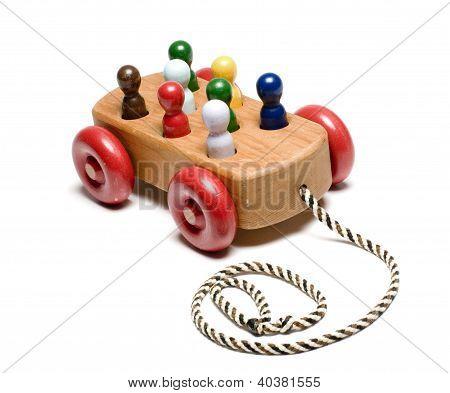 Handmade Wooden Train Children's Toy