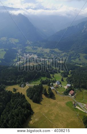 Aerial View Of Chartreuse Valley