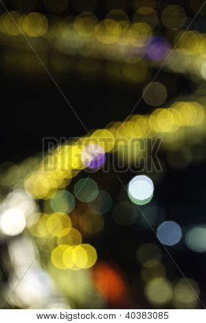 Bokeh of colourful lights