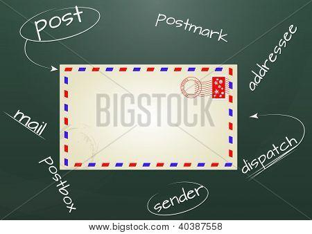 Classic Letter In Chalkboard