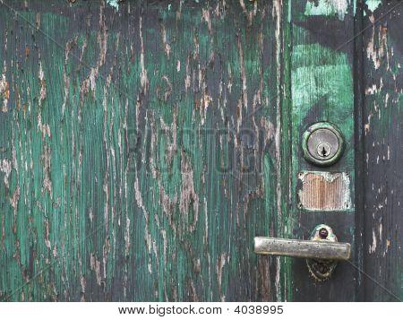 Closeup Shoot Of A Wooden Door
