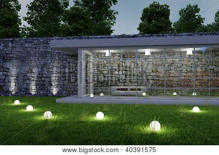 Garden Architecture By Night