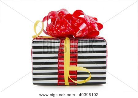 Christmas Gift Box Isolated