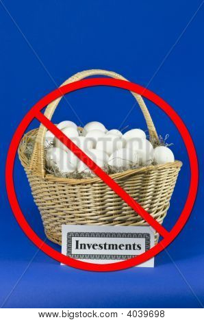 Investment Eggs In A Basket W/ No Slash