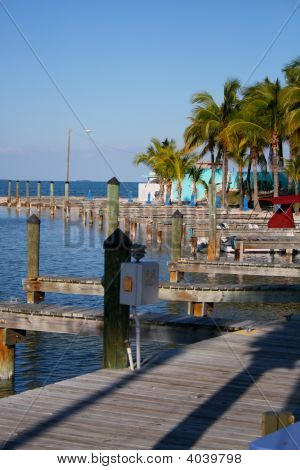 Boat Docks And The Sea