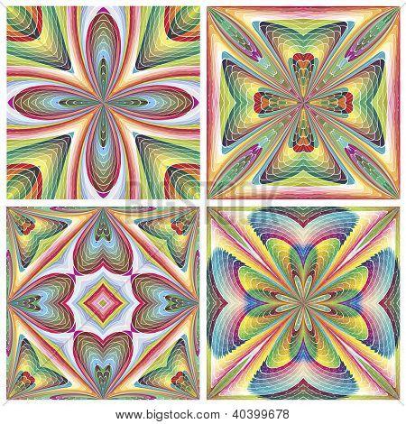 Stain glass art deco tiles