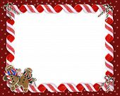 picture of christmas cookie  - Image and illustration composition for Christmas Holiday background border or photo frame with copy space - JPG