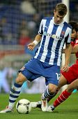 BARCELONA - NOV, 28: Samuele Longo of Espanyol during a King's Cup match between Espanyol and Osasun