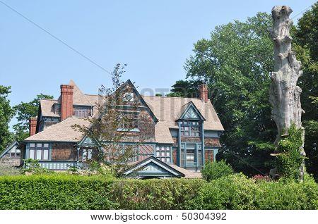 Mansion on Bellevue Avenue in Newport, Rhode Island