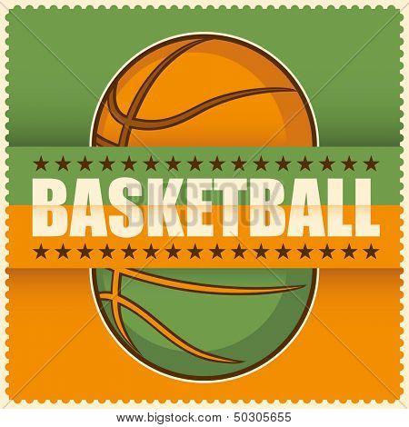 Basketball poster. Vector illustration.