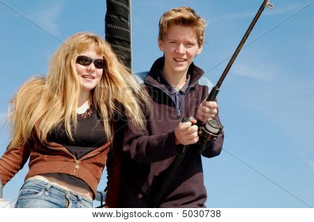 Teenagers Fishing