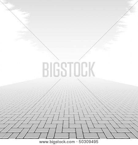 Concrete block pavement. Vector.
