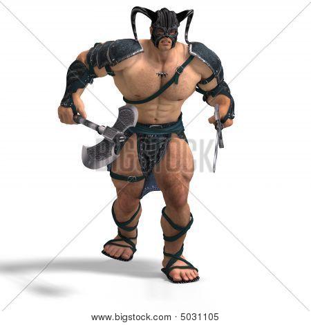 Muscular Barbarian
