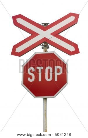 "Isolated ""stop"" Sign"