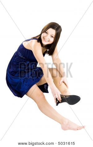 Woman Fitting Shoe