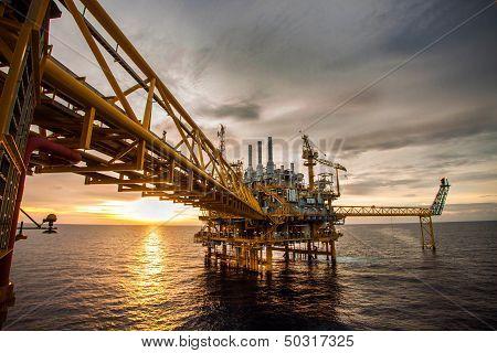 Oil and rig platform