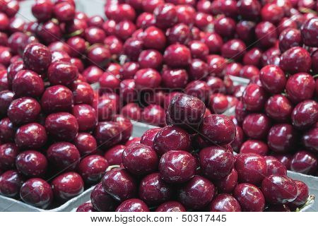 Red Sweet Cherry Piles