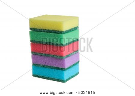 Kitchen Sponges Isolated