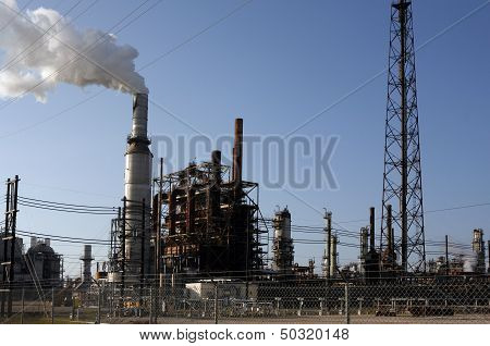 Old Refinery plant, oil industry