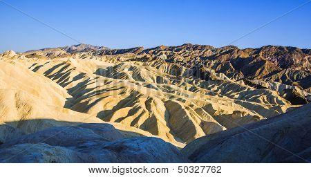Picturesque Soft Waves From Multi-coloured Sandstone. Death Valley, Zabriski