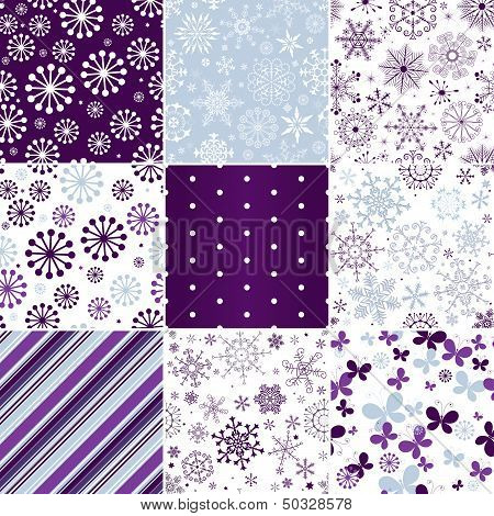Collection Seamless Christmas Patterns