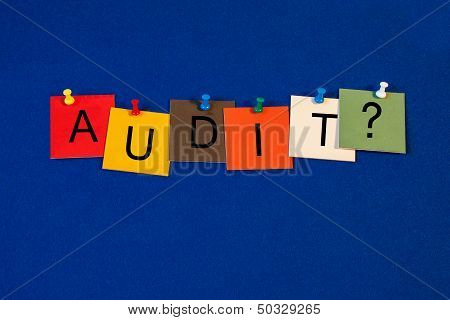 Audit - Sign For Business, Accounting, Records