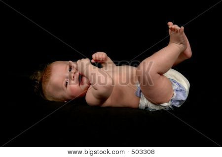 Baby Boy With Black Background