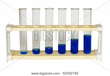 Chemistry Test Tubes Growth Graph