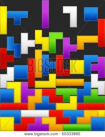 Falling down color blocks