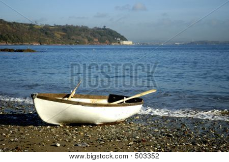 Landed Rowing Boat