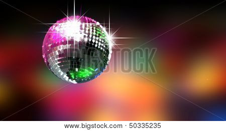 Colorful Glinting Disco Ball