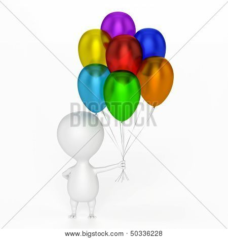 Character And Balloons