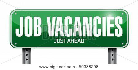 Job Vacancies Road Sign Illustration Design