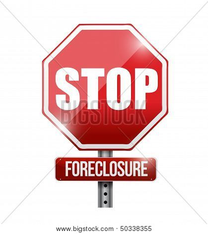 Stop Foreclosure Road Sign Illustration Design