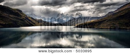 Lake Pehoe And Torres Del Paine