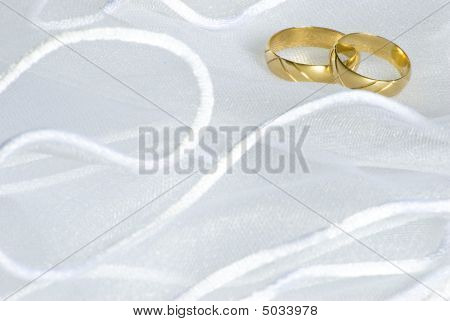 Wedding Rings Over Veil