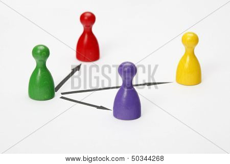 Game figurines - Symbol for Teamwork