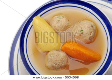 Matzah Ball Soup - Over White