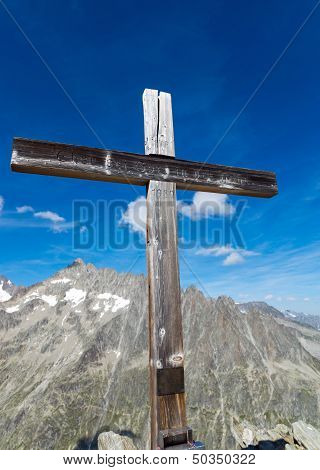Summit cross in Switzerland