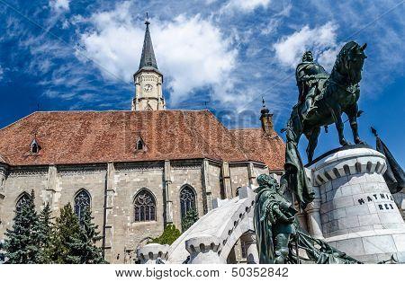 Saint Michael's gothic church and King Mathias