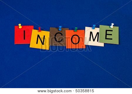 Income - Business Sign