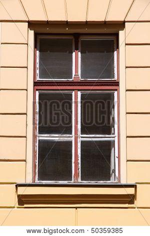 Old Window In Hungary