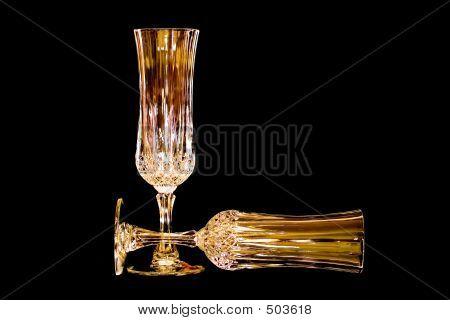 Golden Crystal On Black Velvet
